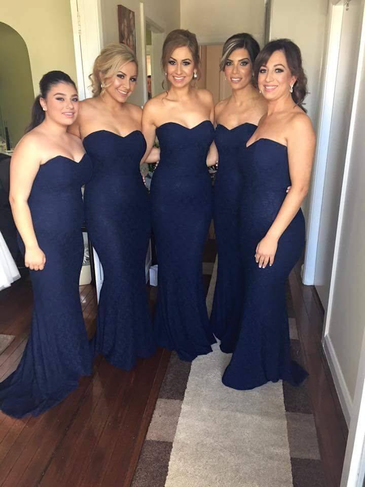 Strapless sleeveless floor length mermaid bridesmaid dress ... 12c9c19e5dc6