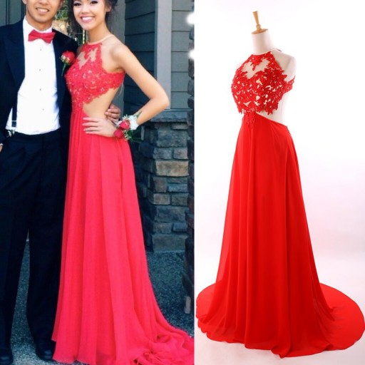 Backless Red Prom Dress, Sexy Prom Dress, Long Prom Dress, 2016 Long ...