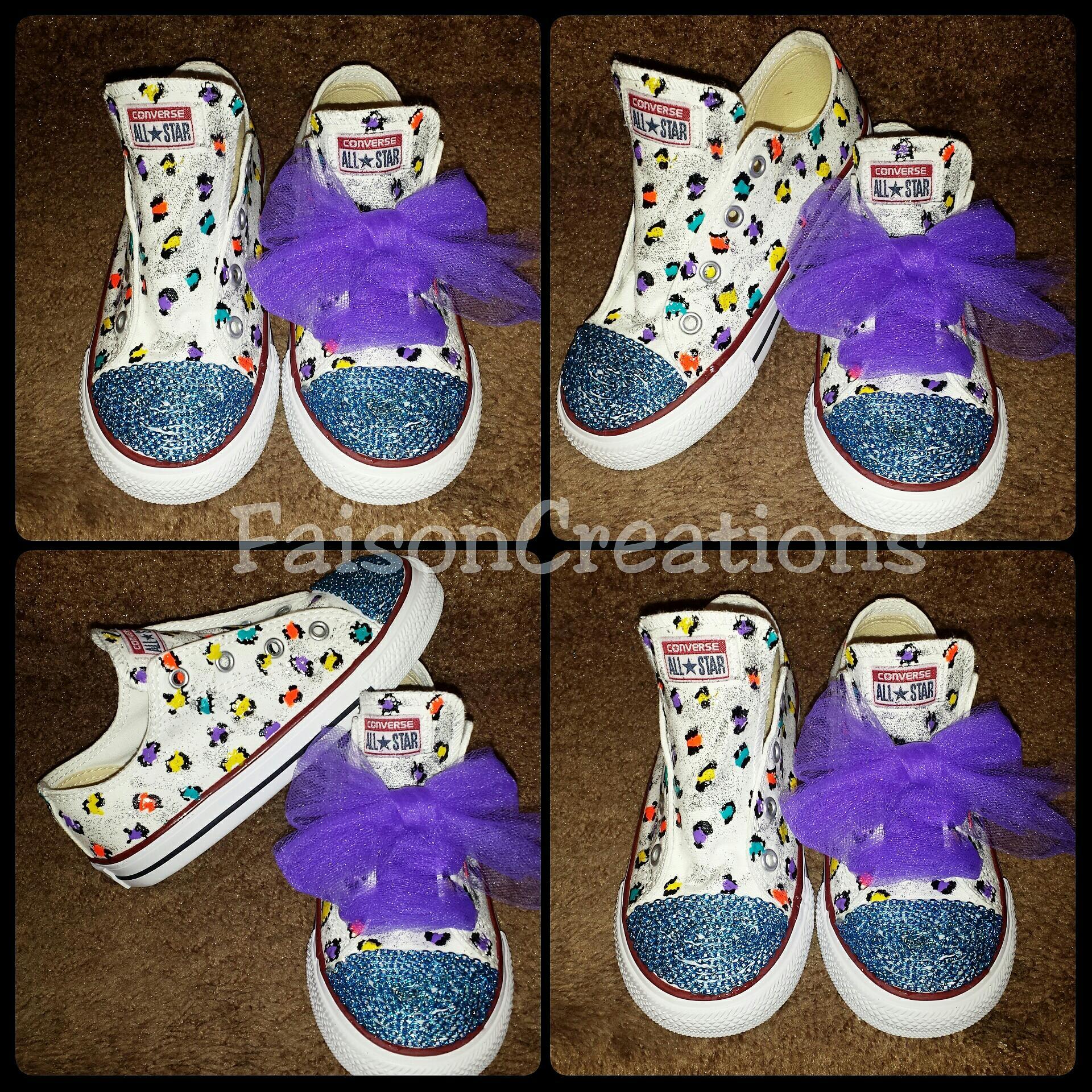 ba3adb11d5dfe Kids Custom Leopard Print Converse · FaisonCreations · Online Store ...