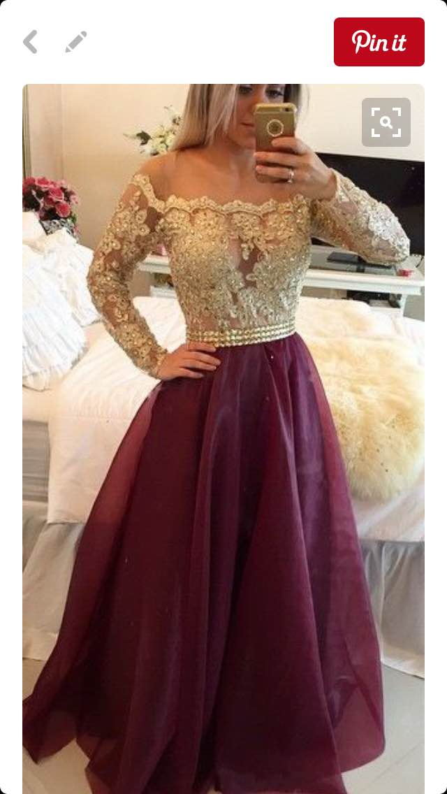 Burgundy Long Prom Dress Popular Plus Size Formal Evening