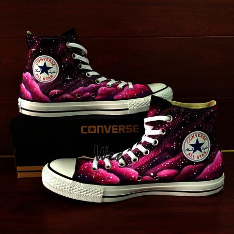 custom pink converse