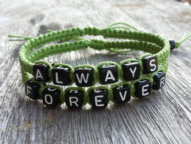 31b8301953 Woven Bracelet-Couples Bracelet, Wax Cords Beadweaving Bracelet, Set ...