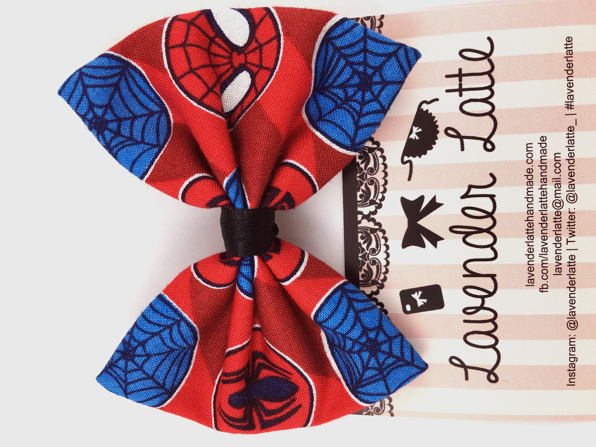 731de0a1cbf9 Spiderman Superhero Comic Book Handmade Hair Bow with Clip - Geeky ...