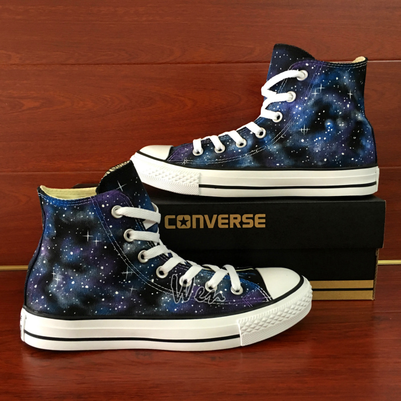 Original Design Galaxy Converse All Star Custom Hand Painted Shoes ... f58a26541