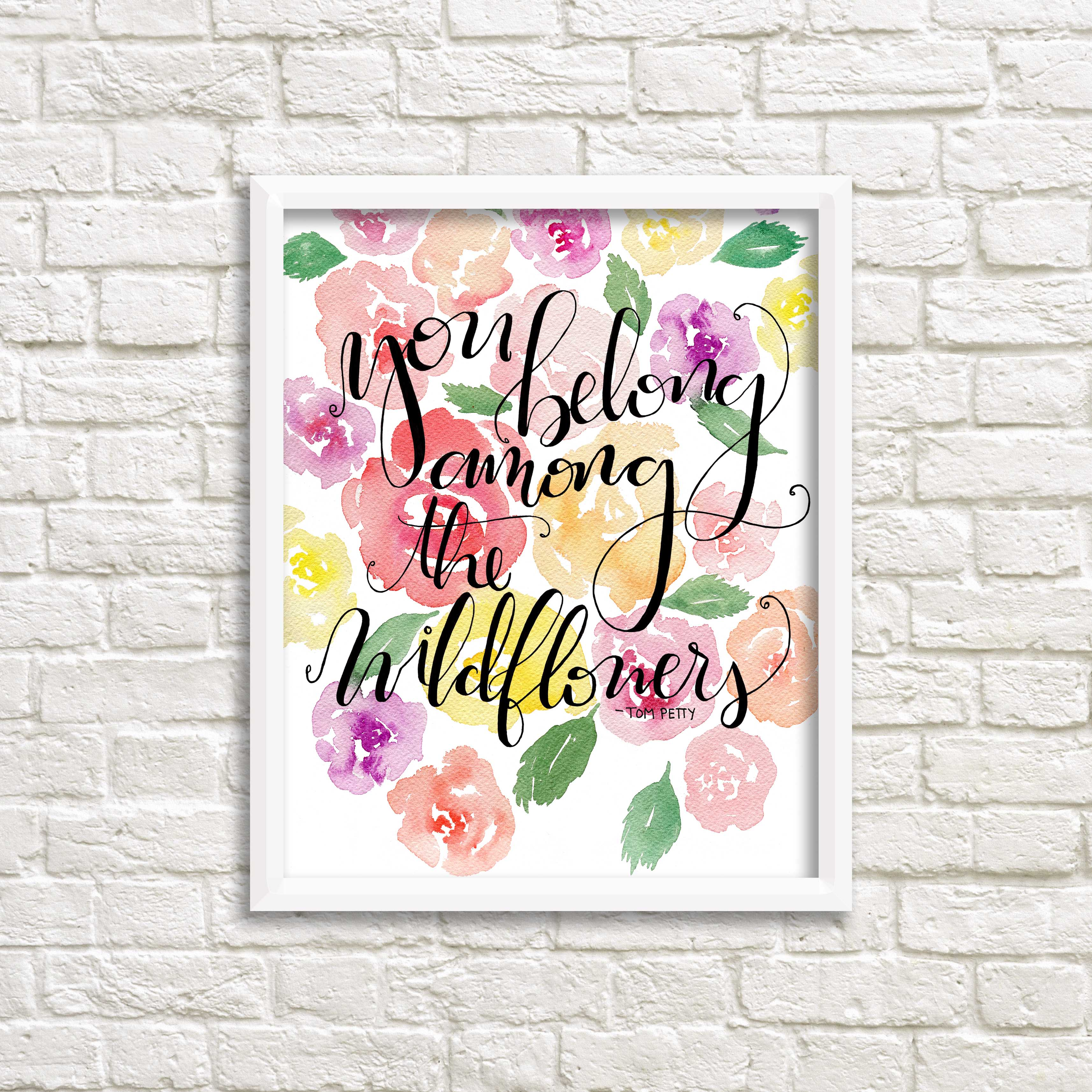 Belong Among The Wildflowers Tom Petty Art Print On Storenvy