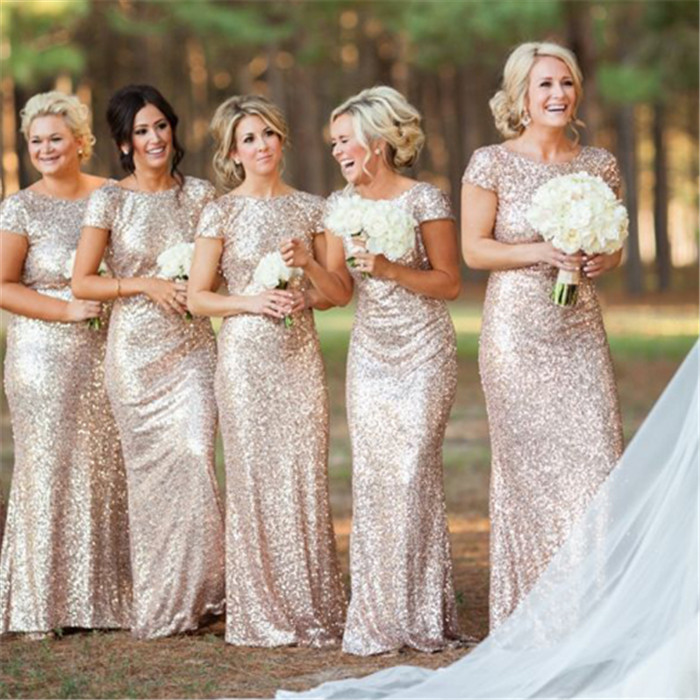 Short Sleeve Bridesmaid Dresses Sequin Bridesmaid Dress Gold Bridesmaid Dresses Long Bridesmaid Dresses Cheap Bridesmaid Dresses From Shedress