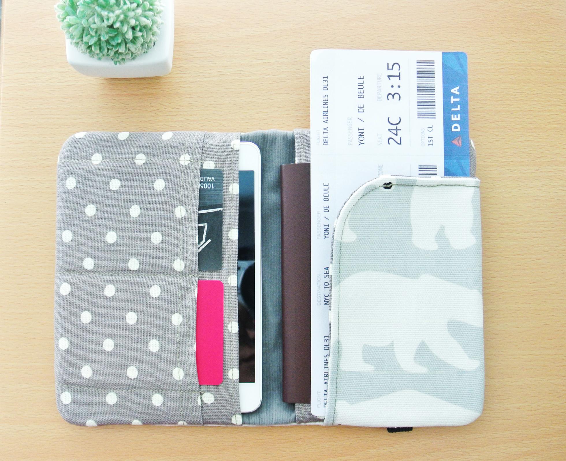 649590c10538 Polar Bear Passport Wallet, Fabric Travel Wallet, Travel Document Holder,  Family Passport Holder