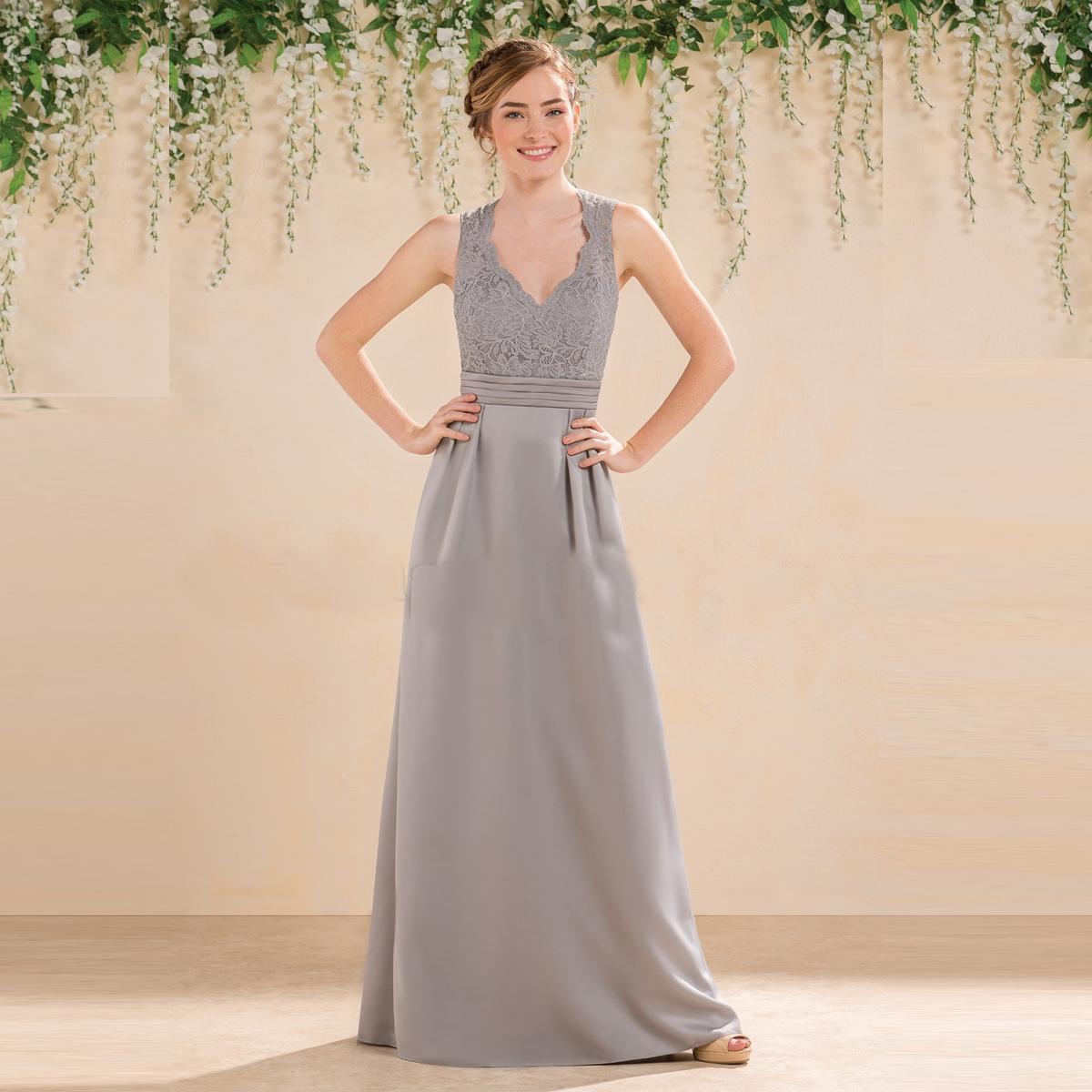 e25b87276c827 Grey long bridesmaid dresses Lace Chiffon Bridesmaid Dress Prom Dress Prom  Gowns Evening Dress Cheap dress