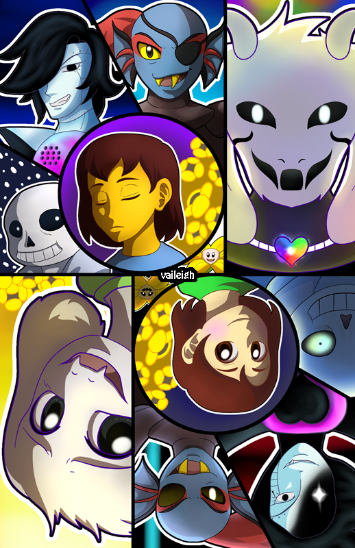Undertale - Routes Print from Vaileigh
