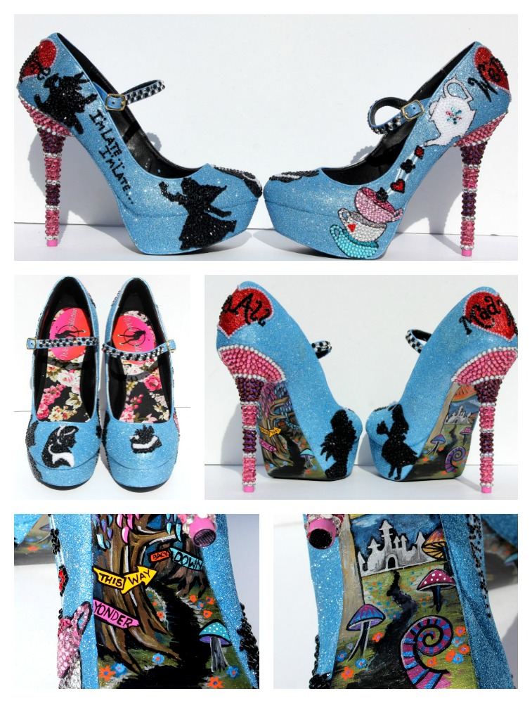 Wedding Shoes: Alice in Wonderland Mary