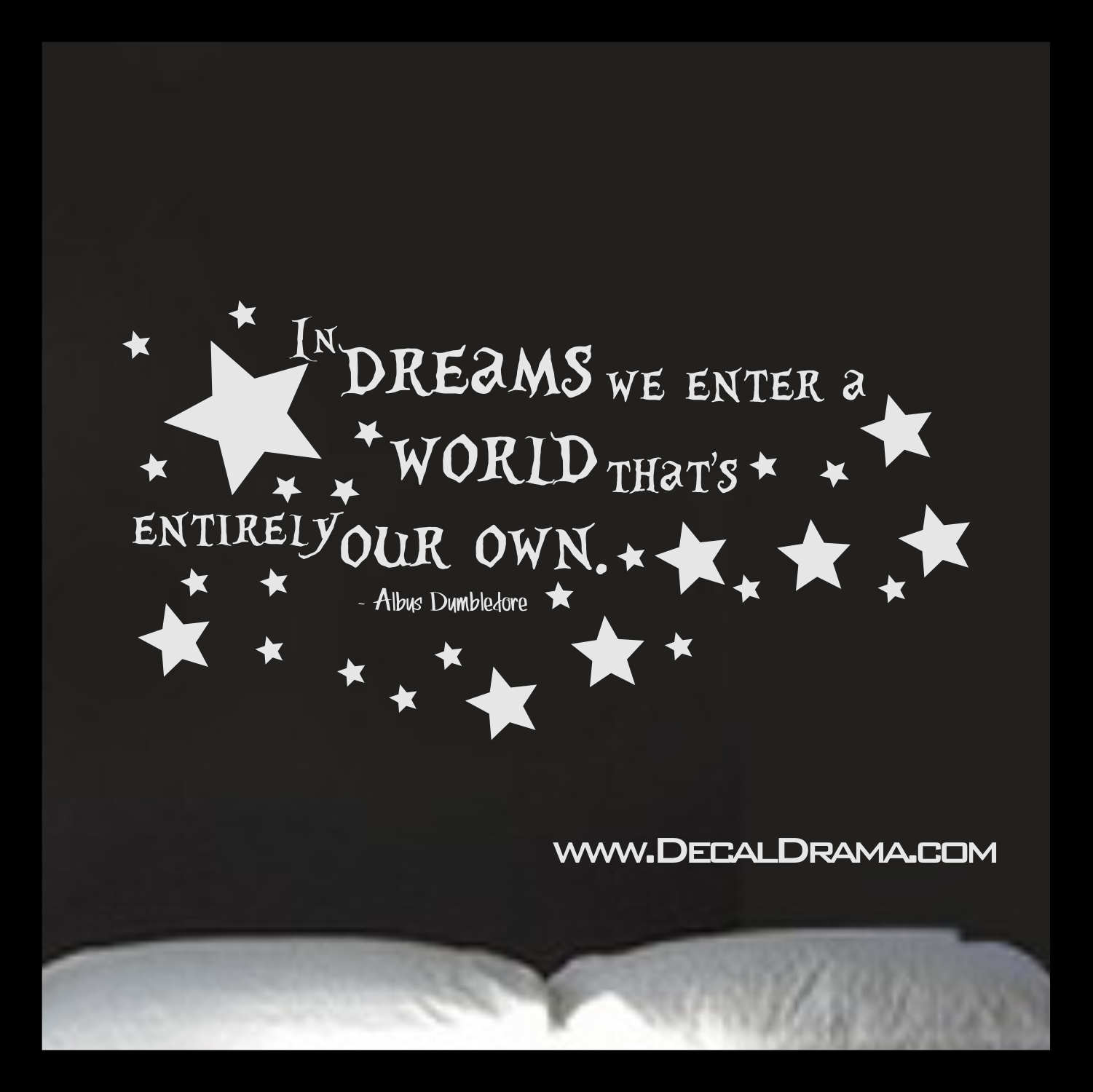 In Dreams We Enter A World Thats Entirely Our Own Vinyl Wall Decal