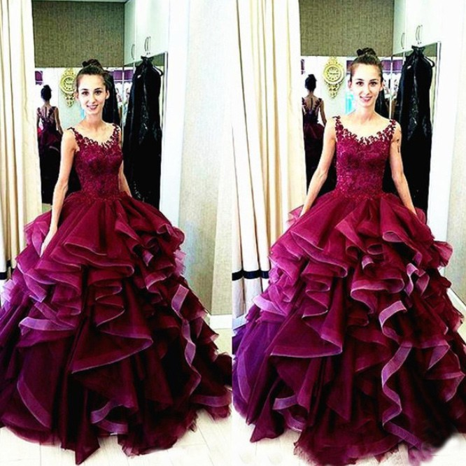 2016 New Design Charming Long Ball Gown Prom Dresses,Quinceanera ...