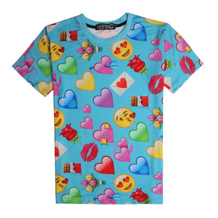 af7fa63558d Summer Style Men T-shirt Expression Print Digital Printing Plus Size Tees  S-XXL