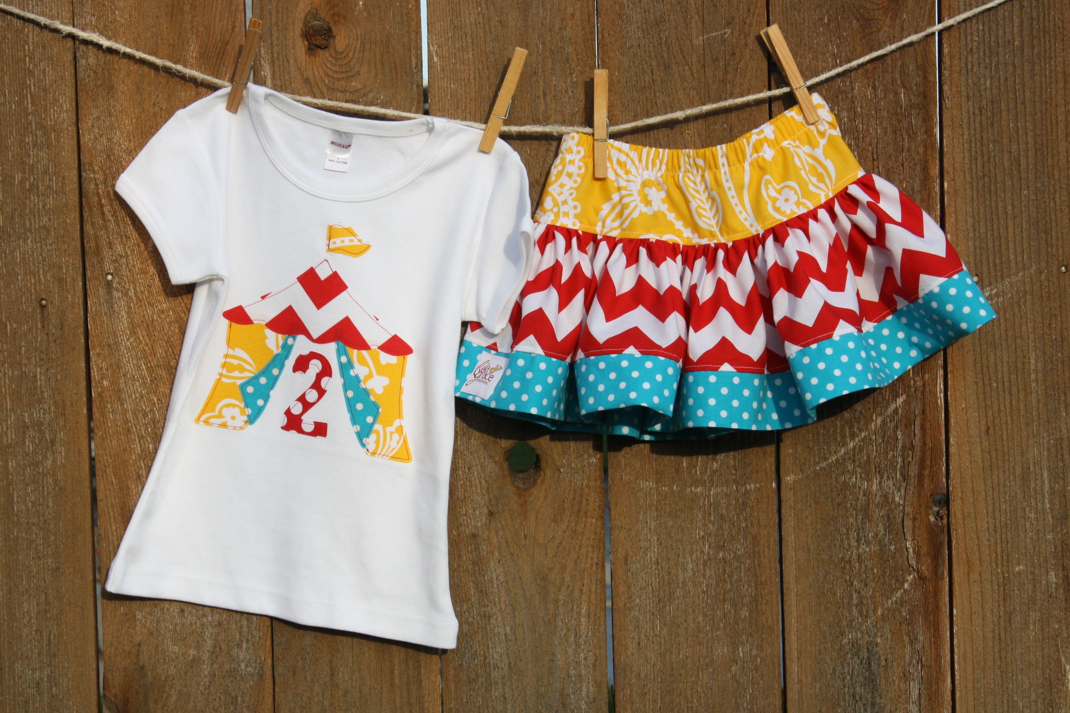 Carousel Horse or Big Top Tent Shirt and Skirt Set - Thumbnail 1 cc9cee7ed