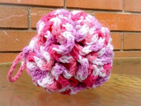 Cotton Bath Pouf Bath Puff Shower Puff Crocheted Loofah On Storenvy