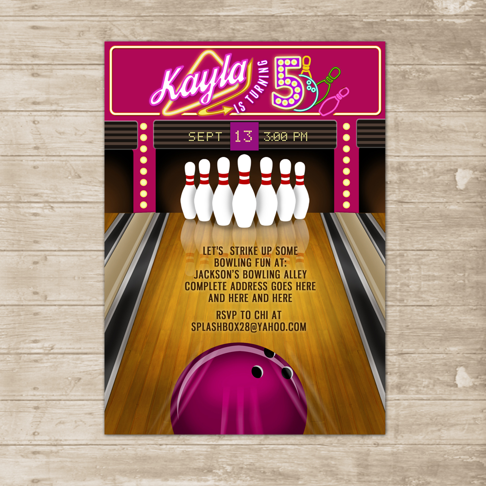 Bowling 20alley 20birthday 20party 20invitation 20card 20pink Small