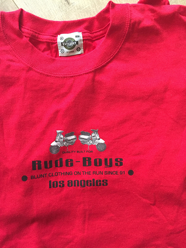 f4e372424 Old-School Blunt - Rude Boys Red T-Shirt · Blunt Clothing · Online ...