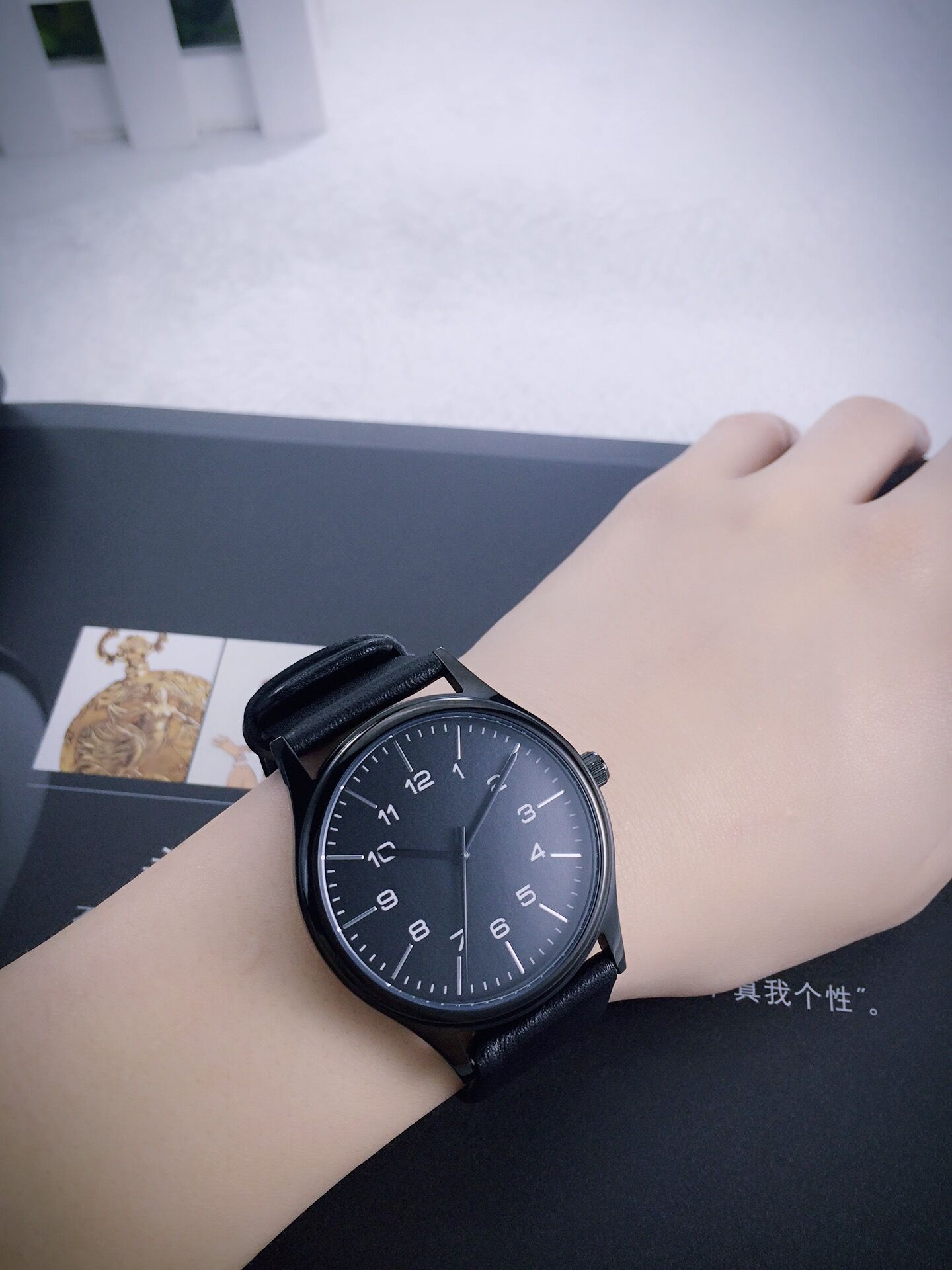 Minimalist Watch with thin stripes and numbers Free shipping from Lawrence  Li