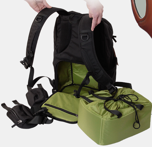Carrell Professional Burglar SLR Camera Photography Backpack With