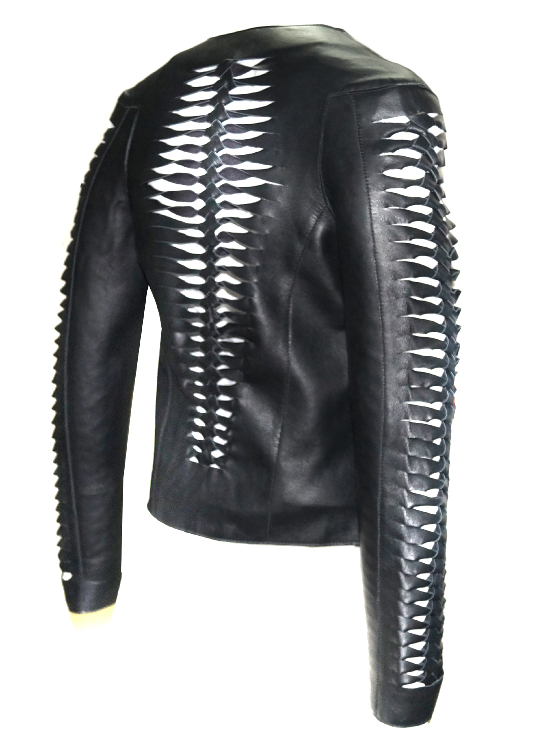 b6af96af30 HandCrafted Woven leather ladies jacket on Storenvy
