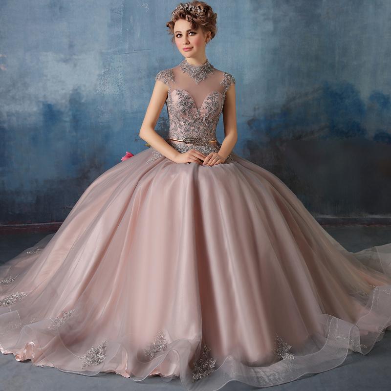 J35 Vestido De Noiva New Retro Princess Bride Long Evening Dress ...