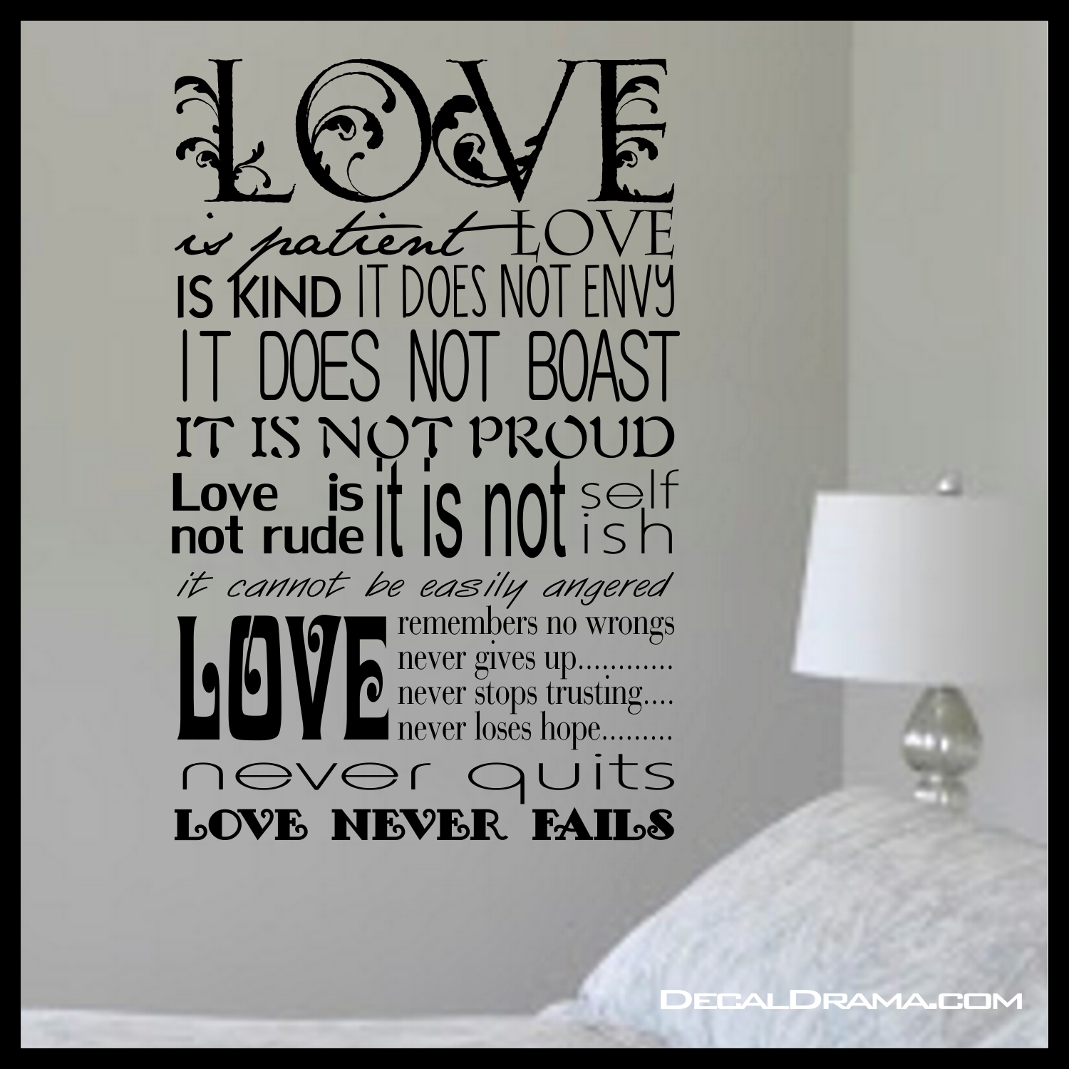Scripture Love Is Patient Love Is Kind Inspired By 1 Corinthians