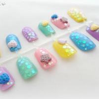 3d sweets kawaii press on nails pastel cookie japanese