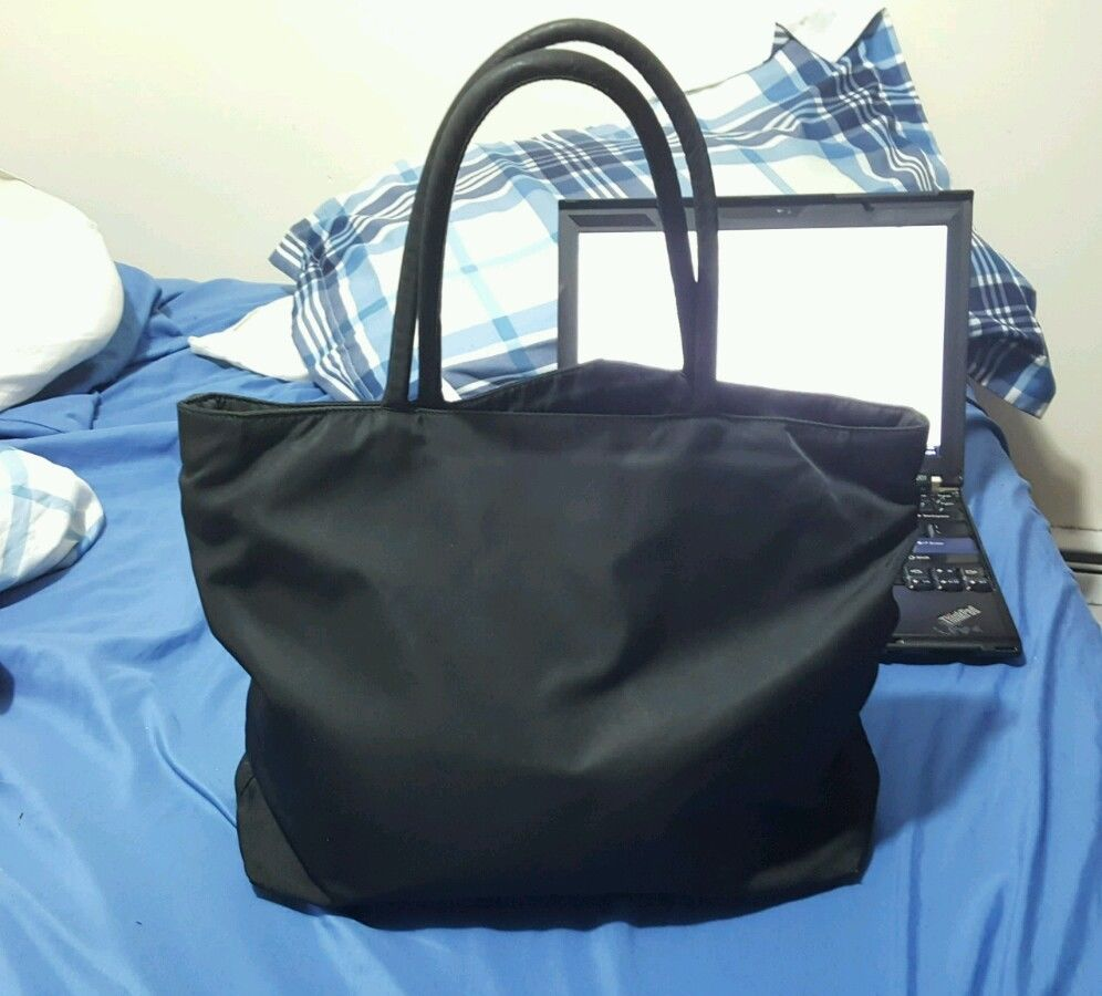 a5a2ac07ae91 PRADA Authentic Black Tessuto PRADA Authentic Black Tessuto Nylon Tote Bag  - Thumbnail 1 ...