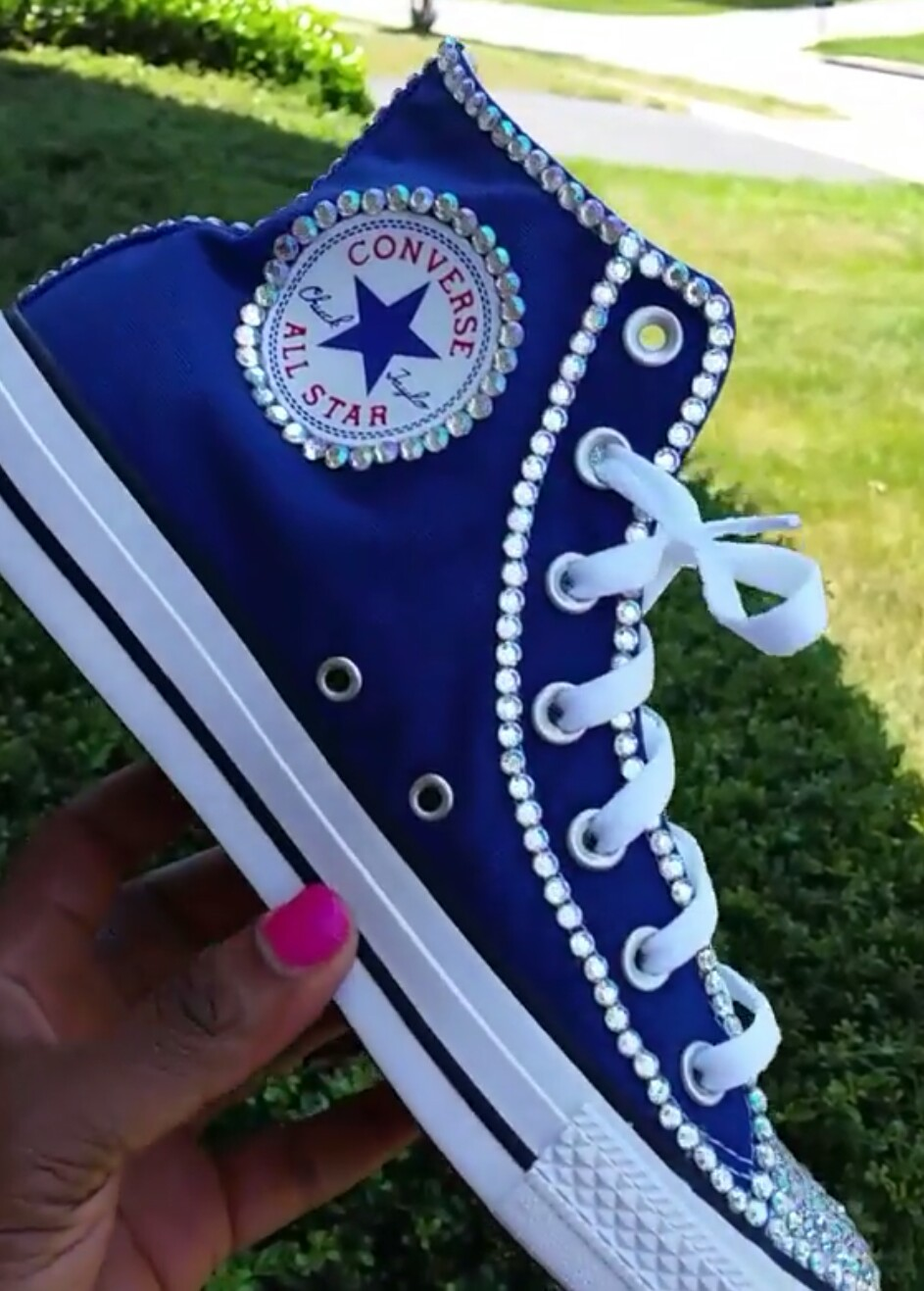 2903908ef9c5 Adult Custom Bling Converse (Size 4-9) High Top · FaisonCreations ...