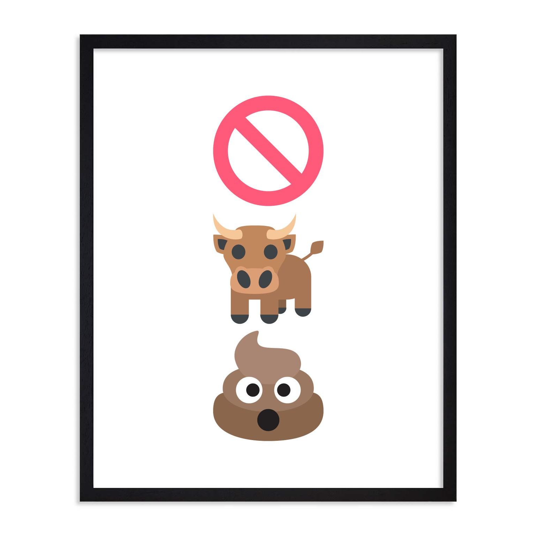 Unframed No Bull Sh&t Emoji Poster from Emoji Art Gallery