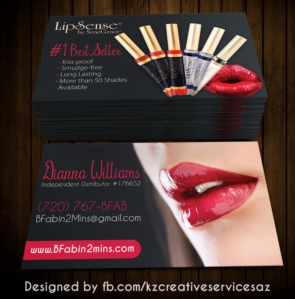 senegence business cards style 2 - Senegence Business Cards