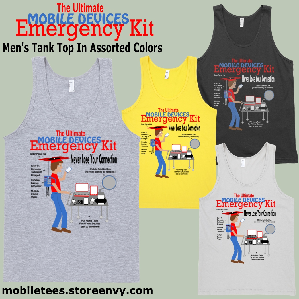 5b5aa74465b11 ... The Ultimate Mobile Devices Emergency Kit - Unisex Heather Grey Tank Top  - Thumbnail 2