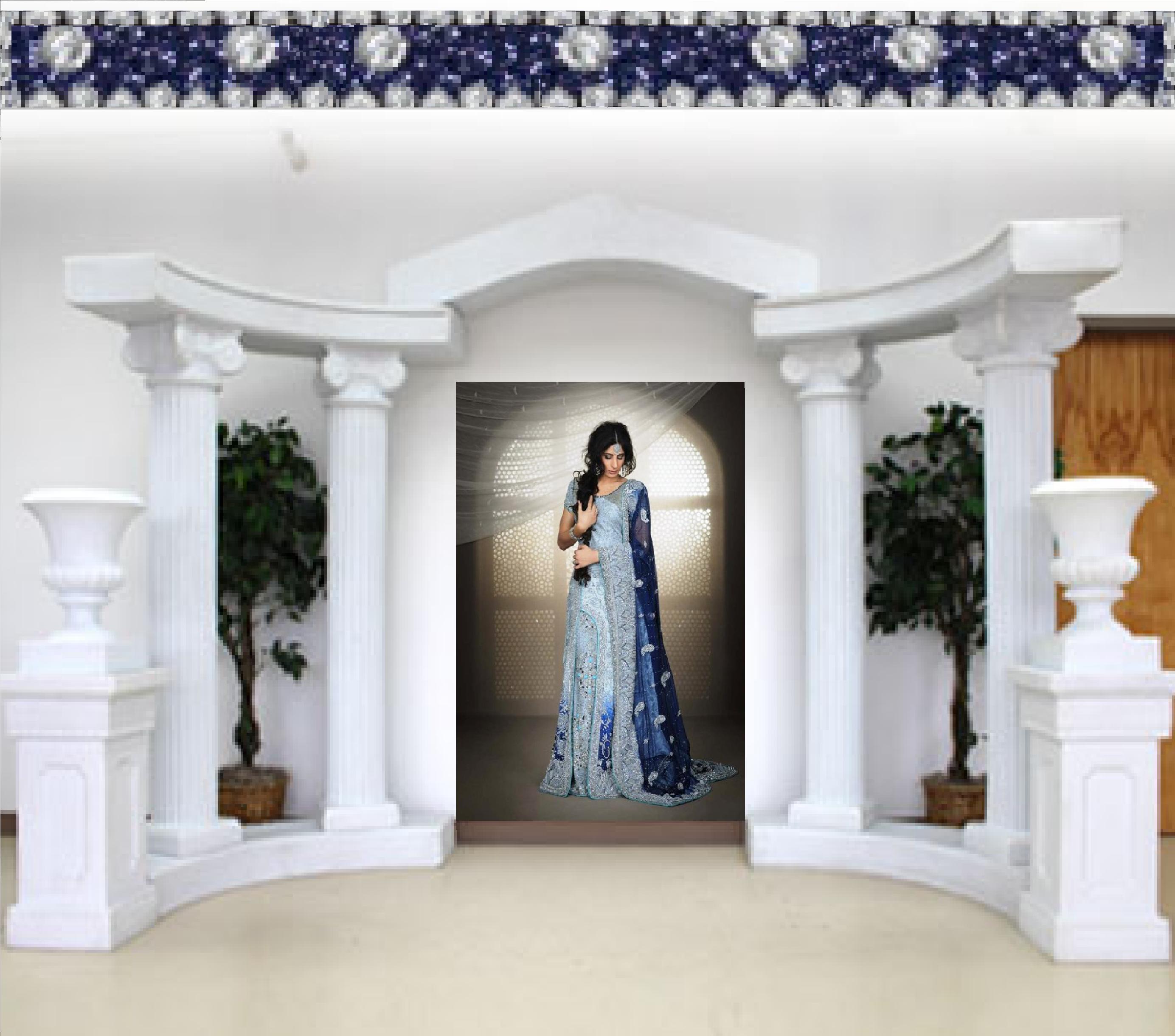 Elegant Lavender Blue & Indigo Bridal Lehenga on Storenvy