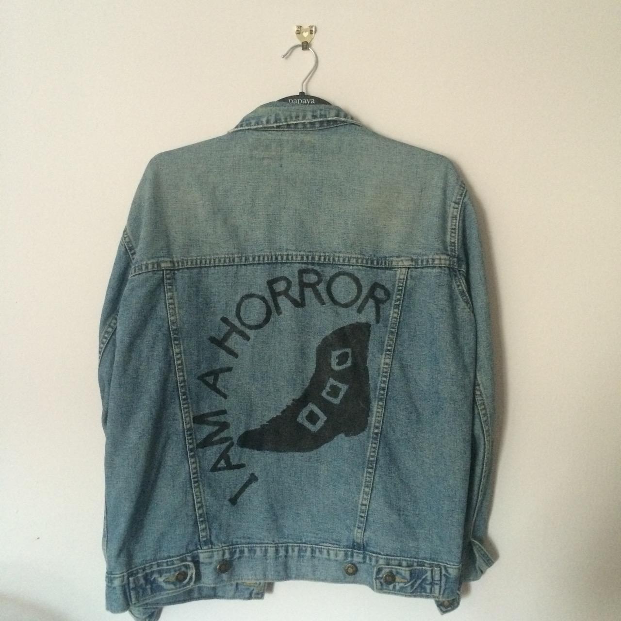 a9a64a650cdf1 I Am A Horror denim jacket on Storenvy