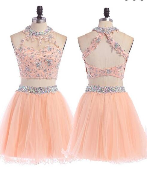 47e73d61541 Peach Homecoming dress