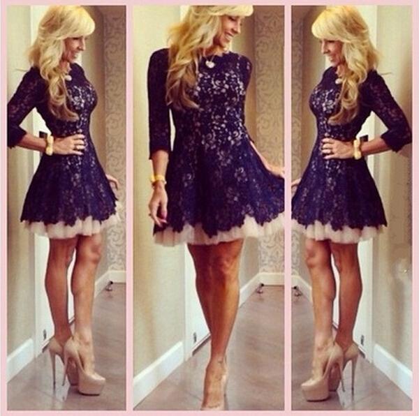 Short Homecoming Dress Long Sleeve Prom Dress Black Prom Dress