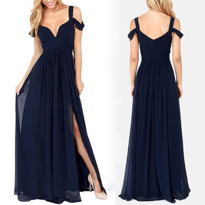 Sweetheart Chiffon Bridesmaid Dress Lace Sleeves