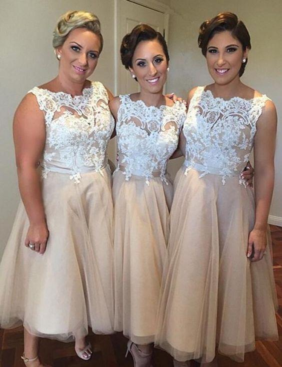2c9c7ac2ba lace off shoulder bridesmaid dresses, tulle bridesmaid dresses, short  bridesmaid dresses, cute bridesmaid dresses, custom bridesmaid dresses,  17141