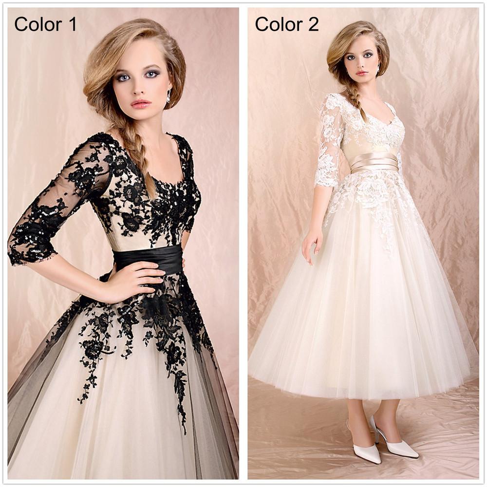 Vintage Tea Length Prom Dresses