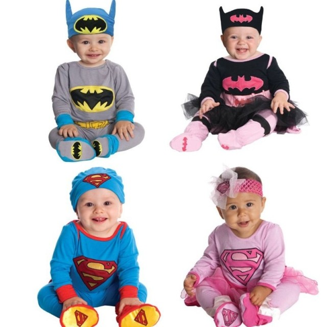 ca31d16b7ae4 Boys girls superman batman superhero costume hat headband romper 4 types infant  toddler baby romper long