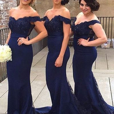 1ae943970d A31 Sweetheart Neck Off Shoulder Navy Blue Lace Prom Dresses