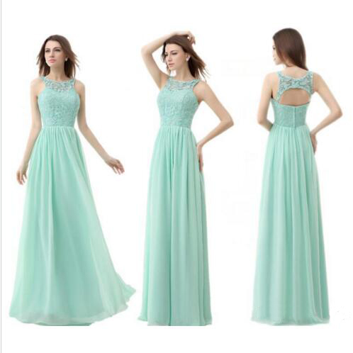 Teal Bridesmaid Dresses Chiffon Over Lace