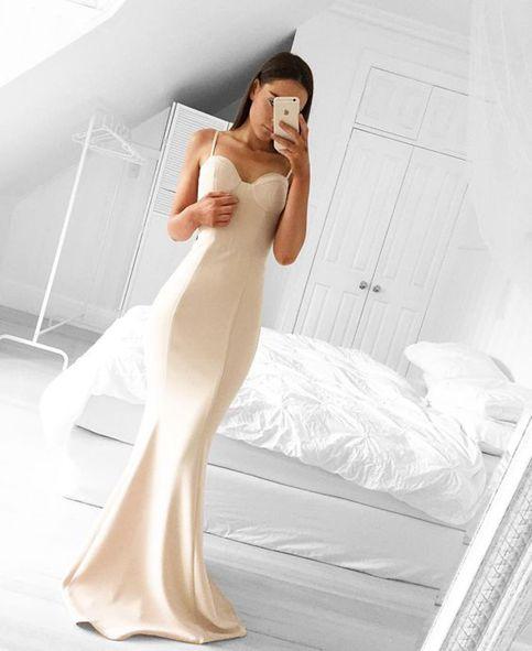 White mermaid sweetheart neck long prom dress,formal dresses · Dream ...
