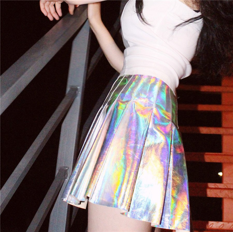 39cf6a35dd1 HARAJUKU HOLOGRAPHIC SKIRT · Shopgogogo · Online Store Powered by ...