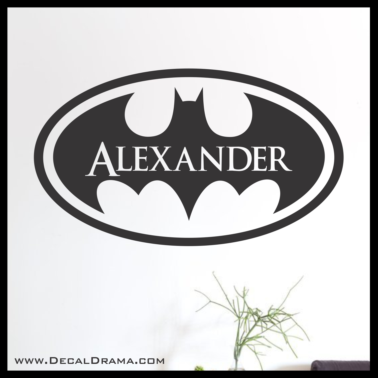Batman Personalized Logo Superhero Name Vinyl Wall Decal On Storenvy - Custom vinyl wall decals logo