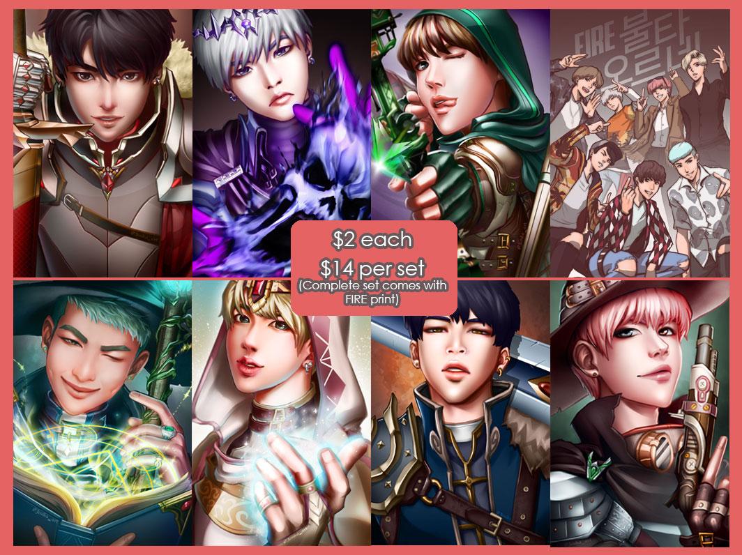 Wallpaper For Room Bts Fanart Fantasy Set 183 Sakuyasworlds Store 183 Online