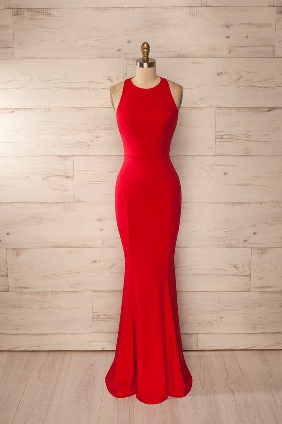 red Prom Dress,simple Prom Dress,mermaid Prom Dress,cheap Evening ...