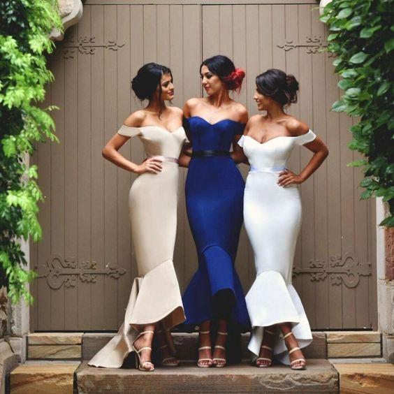 ead98ec3e2c Off Shoulder Bridesmaid Dresses