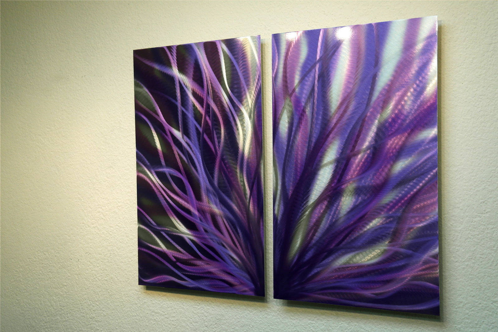 Radiance Purple 31 - Metal Wall Art Abstract Sculpture ...