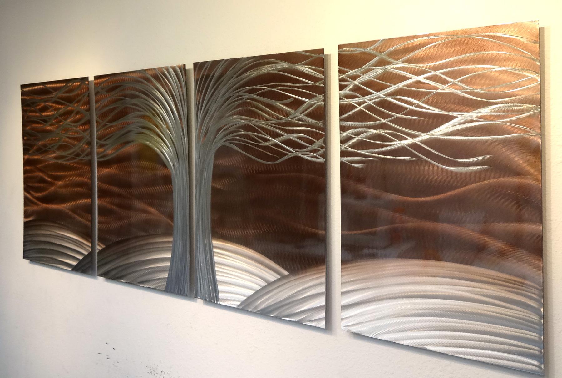Metal Tree Wall Art Gallery: Tree Of Life Burnt Copper- Metal Wall Art Abstract